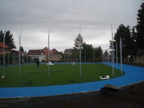 Výstavba sportovního atletického areálu - 2016